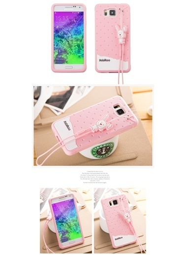 Fabitoo Samsung Galaxy Alpha Candy Kılıf  Pembe